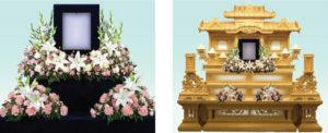 祭壇花2 : 3尺写真廻り・1個段花1対